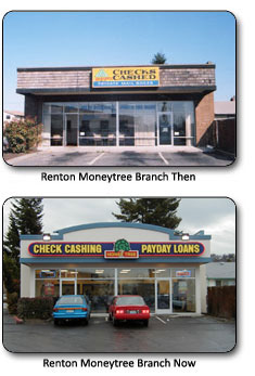 Rainier Moneytree branch - then and now