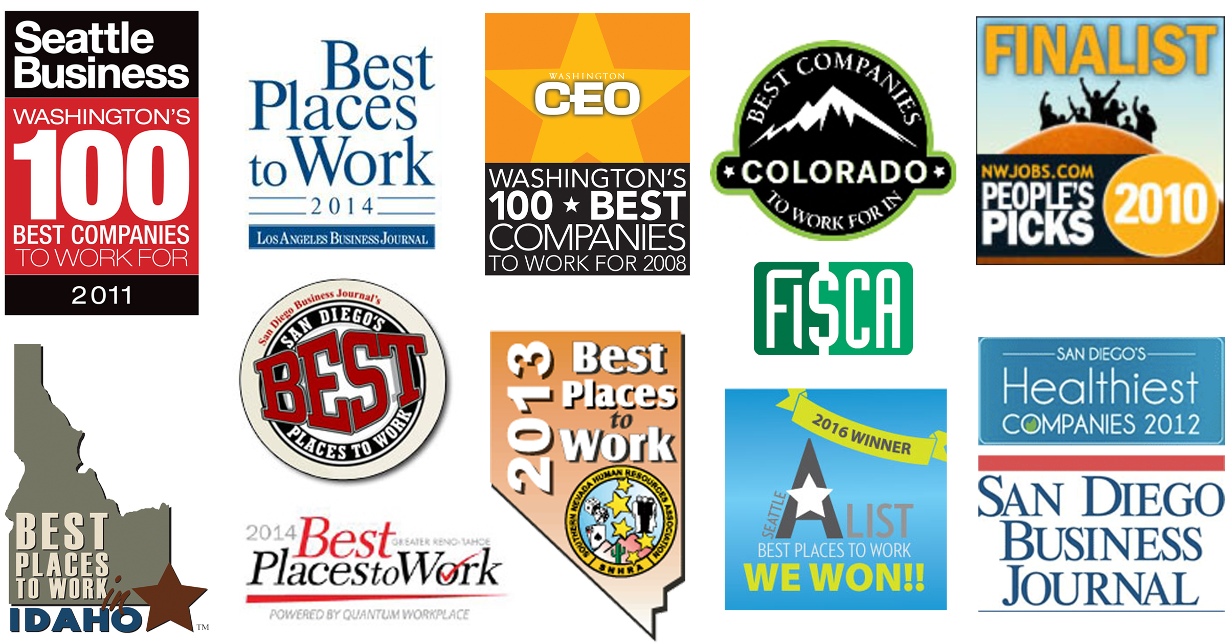Collage of Best Places to Work images.