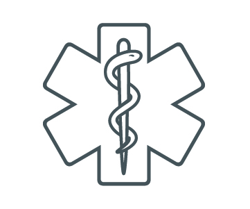 Icon of a medical symbol.