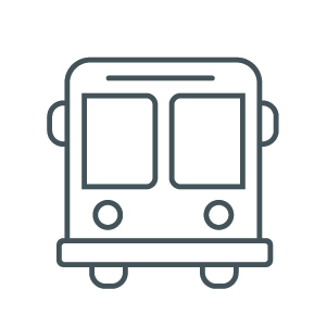 Icon of a transit bus.