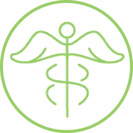 Icon of a caduceus symbol.