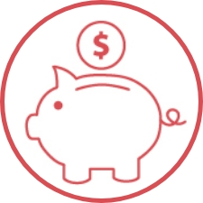 Icon of piggy bank.